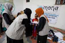 School supplies deliver in Sana'a by Mona Relief to orphaned girl students
