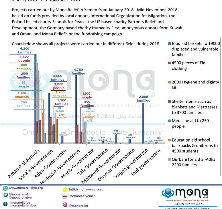Mona Relief's projects in 2018