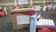 21 Malnourished children receive food supplies in Sana'a from Mona Relief