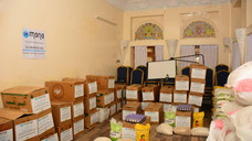 Big baskets of food and gift aid to 150 widows in Sanaa
