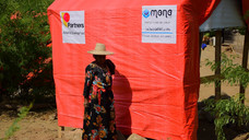 Construction of 100 tents - funded by Partners and Karmagawa