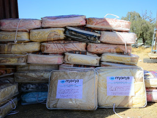 Mona Relief delivered 100 blankets funded by Schools for Peace