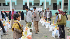 60 food aid baskets delivered in Sana'a by Mona Relief