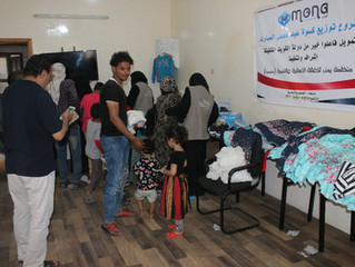 Mona Relief continues delivering Eid clothing