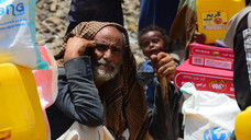 65 families at al-Azaraqeen displaced camp in Sana'a receive food supplies for the fourth round