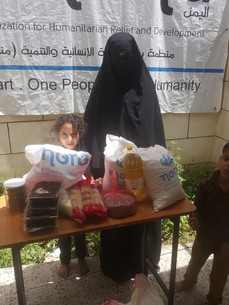 10 widows in Sana'a received food baskets from Mona Relief