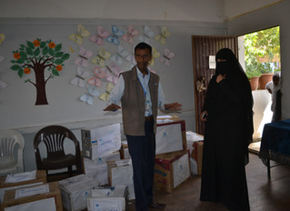 Monareliefye.org delivers 2000 textbooks to students studying in public schools