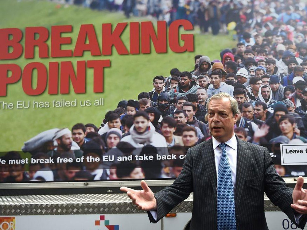 Nigel Farage Breaking Point Poster for EU Leave campaign