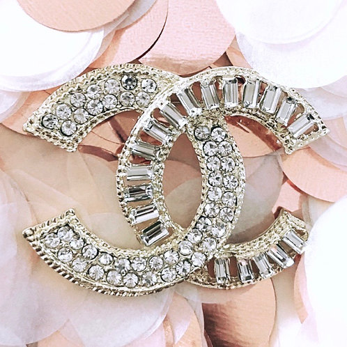 Double C Brooch Gold