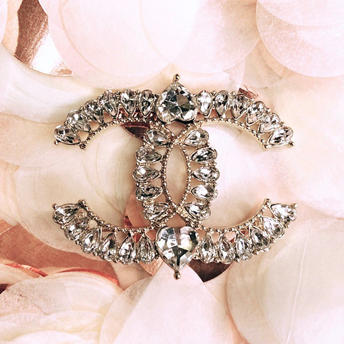 Gold Princess Double C Brooch