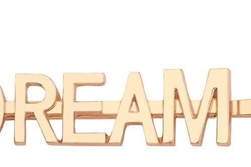 Gold DREAM Hair Pin