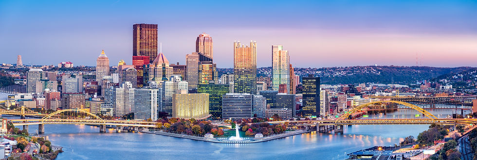 Aerial View of Pittsburgh, Pennsylvania's Best Chiropractic & Wellness Care.