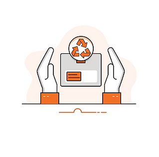 New Jersey E-commerce Fulfillment Center Recycling Icon