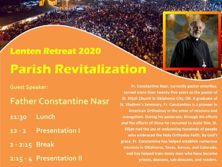 Pan-Orthodox Lenten Retreat 2020