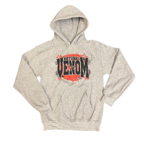 Natural Venom Gray Hooded Sweatshirt