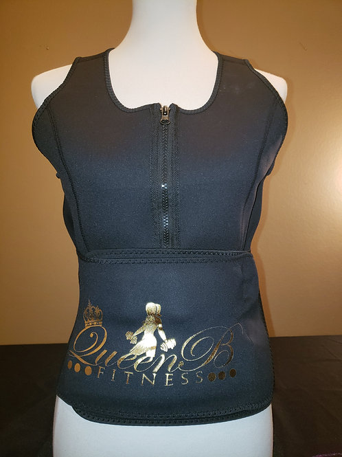 Small-3X Black Body Shaper Sweat Vest