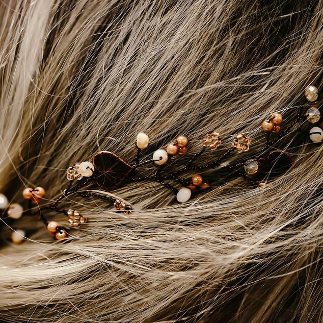 1 Thunbergia Vine close up in rubys hair.j