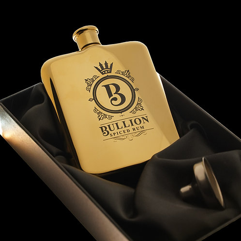 Bullion Gold 6oz Hip Flask with Funnel