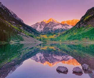 Maroon Bells Reflection Triptych #1, Colorado
