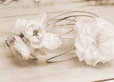 Silk French Flower Headpieces