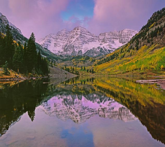 Maroon Bells Reflection Triptych #3, Colorado