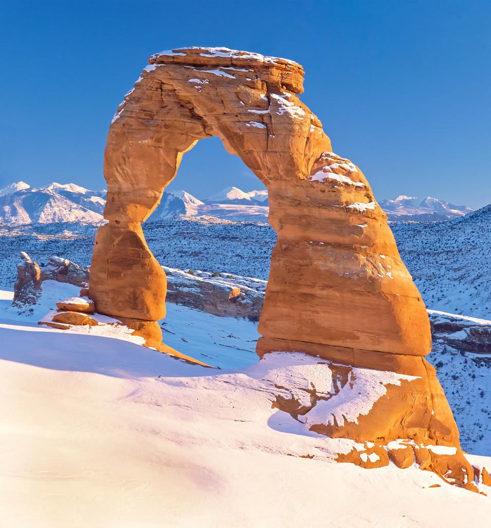 Delicate Arch Winter Portrait: Utah