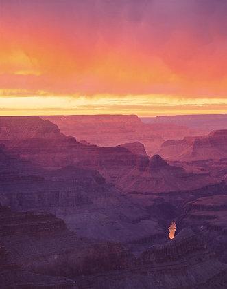Orange & Stormy Sunset