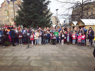 Carol singing in the City