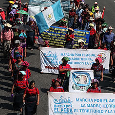 A March within Cajola, Guatemala.