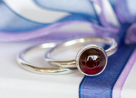 Garnet stacking ring set