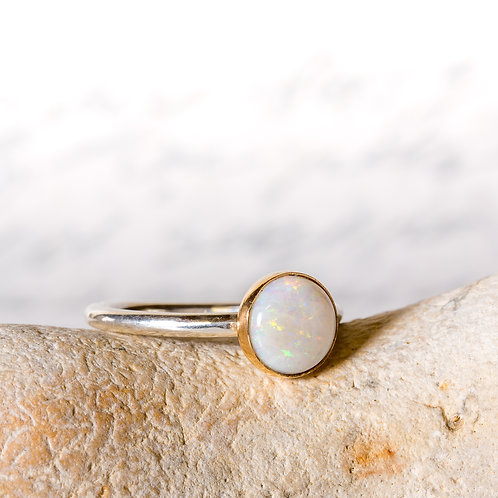 Gold bezel set Opal ring