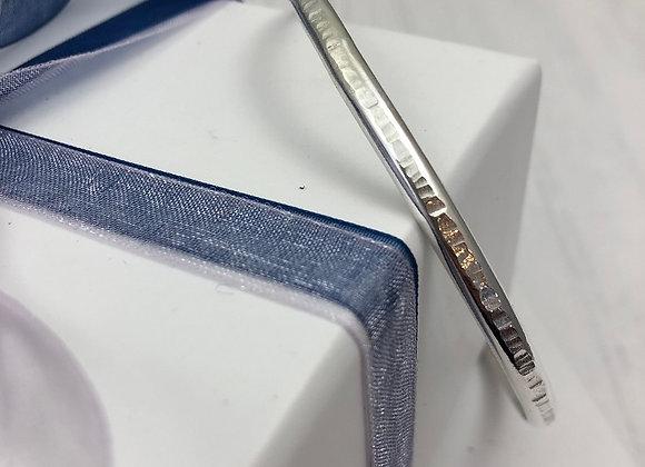 Hammered texture bangle