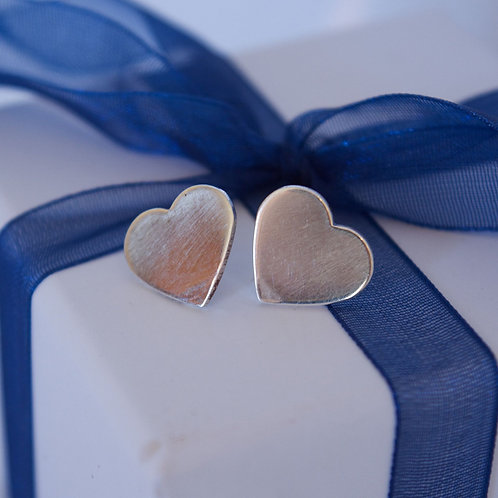Smooth Heart Studs
