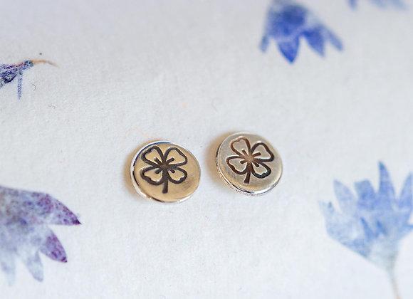 Good luck clover stud earrings