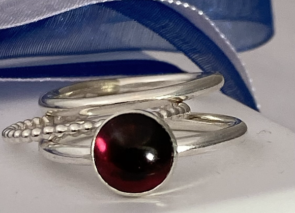 Garnet stacking ring set