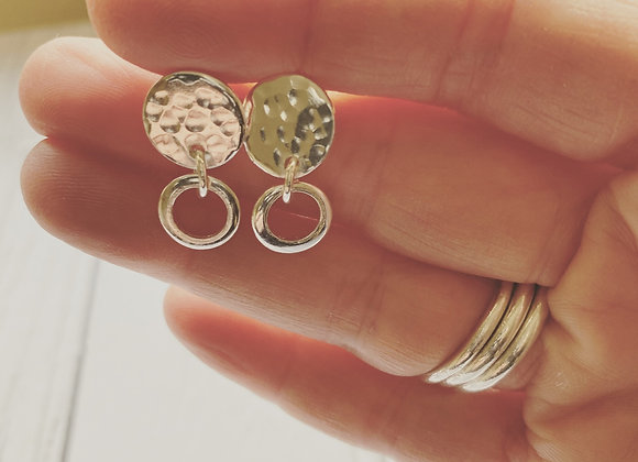 Faith hammered earrings