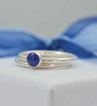 lapis lazuli stacking rings