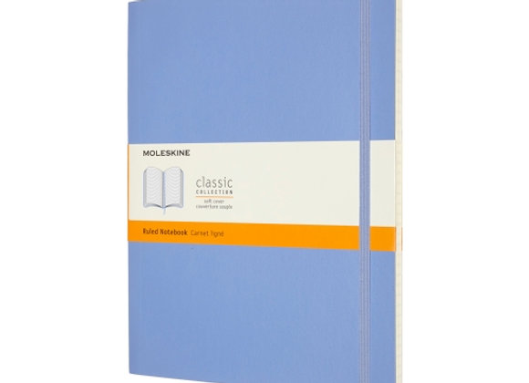 Classic X-Large Light Blue Hard Cover Ruled Notebook