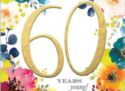 Abacus 60 Birthday Card