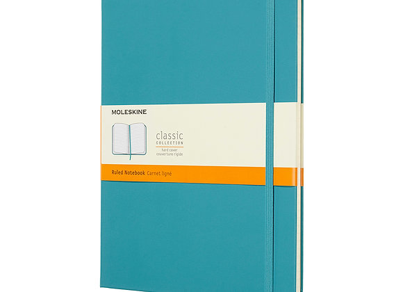 Classic X-Large Reef Blue Hard Cover Ruled Notebook