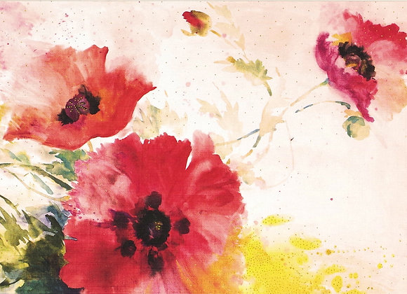 Watercolour Poppies Blank Boxed Cards