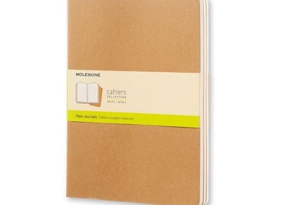 Cahier XL Kraft Brown Set Of 3 Plain Journals