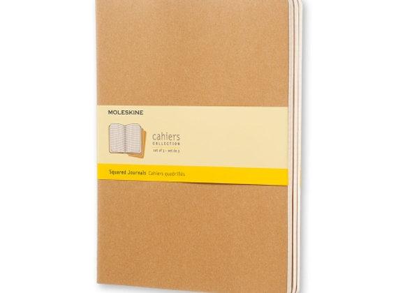 Cahier XL Kraft Brown Set Of 3 Square Journals