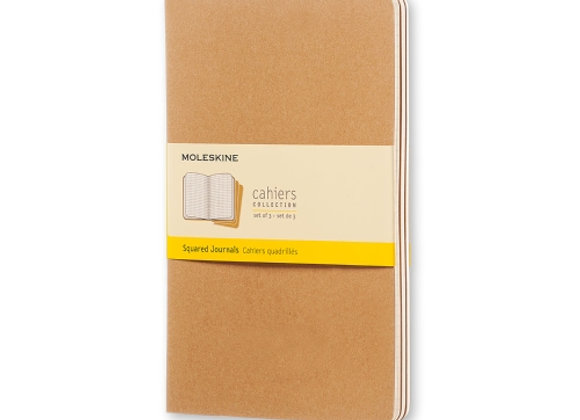 Cahier Large Kraft Brown Set Of 3 Square Journals