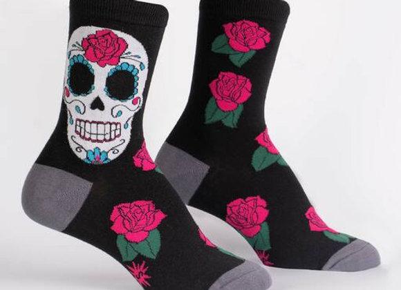Women's Crew Sugar Skull Socks