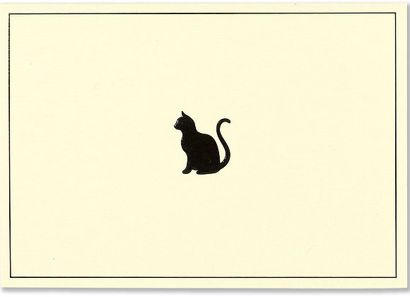 Black Cat Blank Boxed Cards