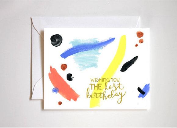 Geo Splash Birthday Card