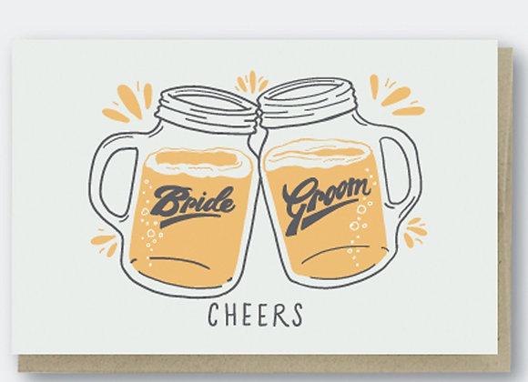 Cheers Beers Bride & Groom Card