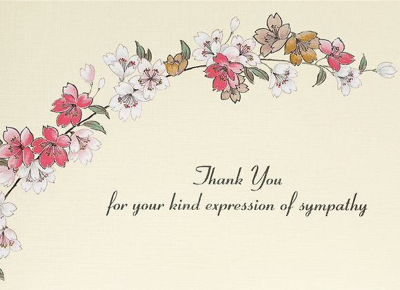 Sympathy Floral Thank You Boxed Cards