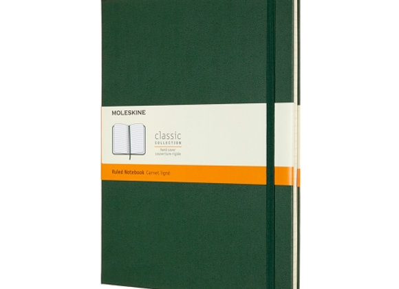 Classic X-Large Myrtle Green Hard Cover Ruled Notebook